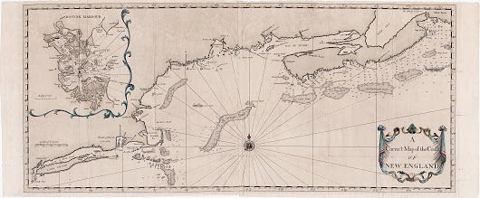 Cyprian Southack's chart of the New England coast, 1731  An important chart based on the work of Cyprian Southack, one of Boston's most colorful early f... - Boston Rare Maps Inc - Google+