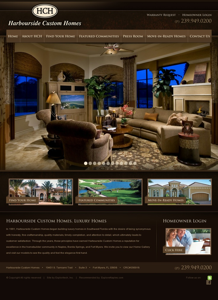 home web design. Harbourside Custom Homes  Website Design 68 best web design homes real estate images on Pinterest