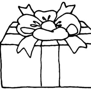 Christmas Presents With Flower Shaped Wrapping Coloring Pages