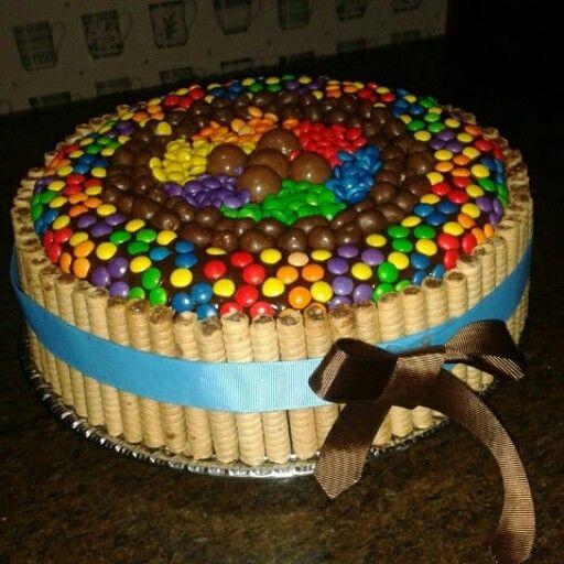 Torta de chocolate con pirulin y dandys | cupcakes&cakes