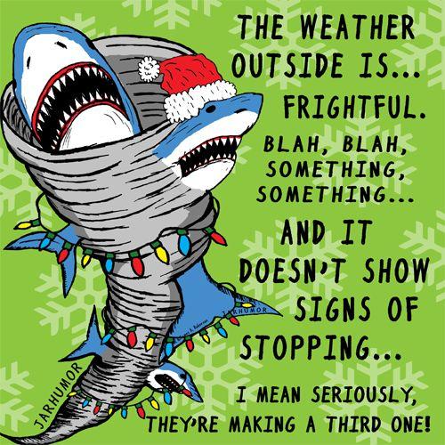 It's a Sharknado Xmas! by JARHUMOR #christmas #funny #lol #horror #xmas #sharknado