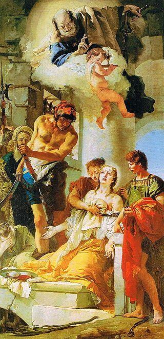 Tiepolo - Martirio di sant'Agata - Sant'Antonio - Padova (esposizione -25) - Giambattista Tiepolo - Wikipedia