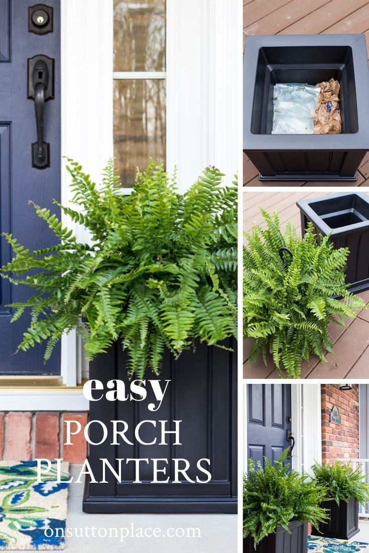 The Easiest Front Porch Planters Ever In 2020 French Garden Design Front Porch Planters Porch Planters