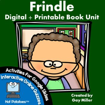 Be sure to check out all three versions of this Frindle Book Unit to determine which best fits your teaching needs and style. This is the full printable + Google Digital Resources version containing vocabulary practice, comprehension questions, constructive response writing, and skill practice.