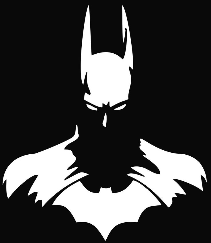 Batman Silhouette #batman  #blackandwhite #artwork http://www.pinterest.com/TheHitman14/black-and-white/
