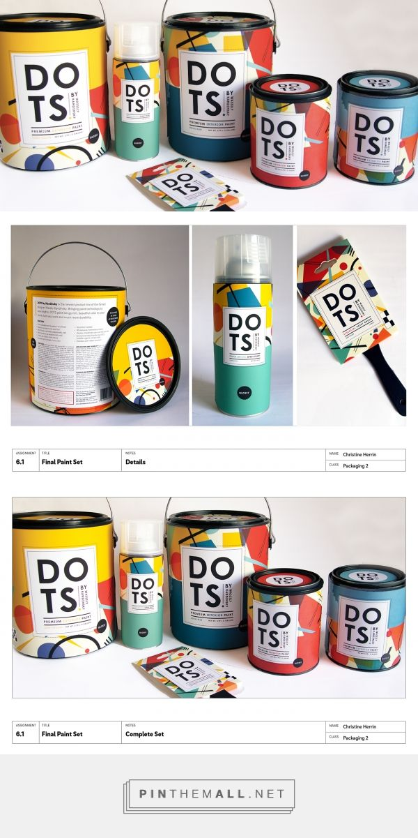 DOTS Paint by Kandinsky Brand Packaging by Christine Herrin on Behance | Fivestar Branding – Design and Branding Agency & Inspiration Gallery