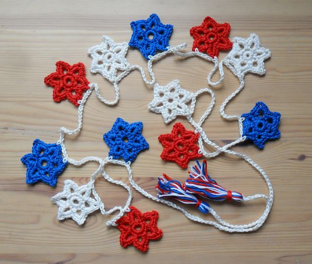 Red, White and Blue Star Bunting £15.00