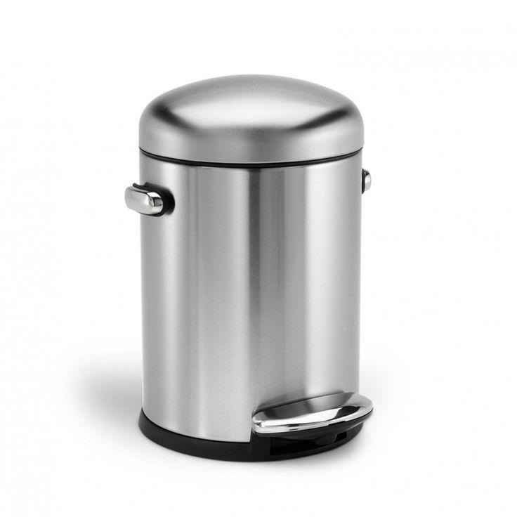 Lixeira de aço inox Retro SimpleHuman 4,5 litros - Utensílios Domésticos / Utilplast - Utilplast