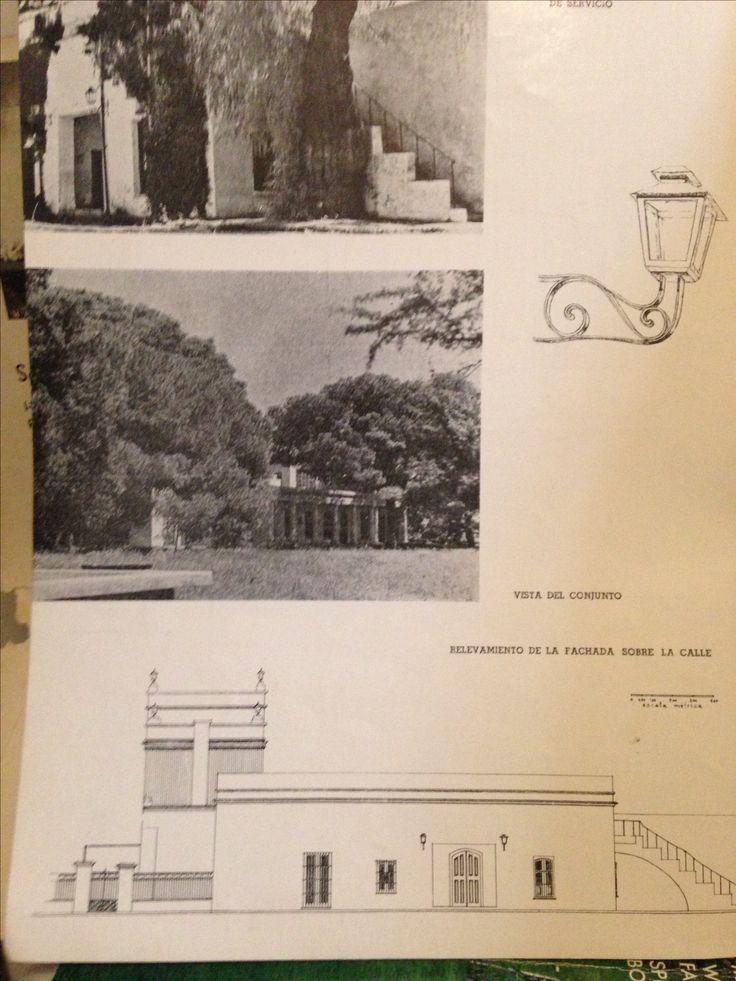 Arquitectura , Argentina.  Bs. As. La Quinta Pueyrredon. De Revista de Arquitectura, abril,1943