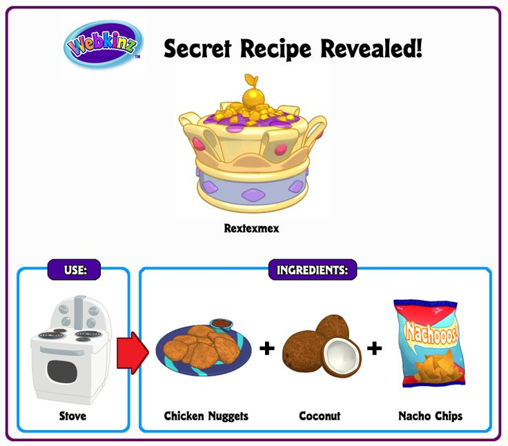 27 best webkinz secret recipes images on pinterest secret recipe recipe revealed rextexmex forumfinder Choice Image