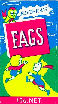 "Remember ""Fags"" the iconic Aussie sweet?  Yes, packets of lollies designed to look like cigarettes.  They were created in 1943 & changed name to ""Fads"" in 1987 (for obvious reasons)."