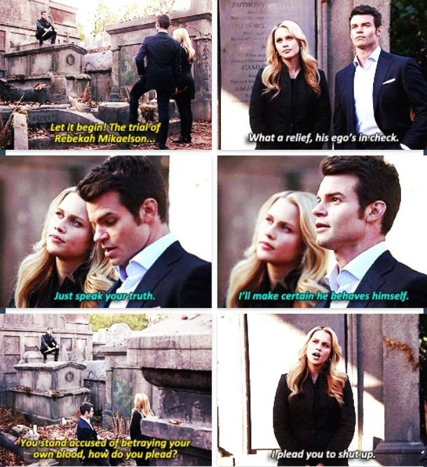 I think this is a perfect example of the Klaus/Elijah/Rebekah dynamic.