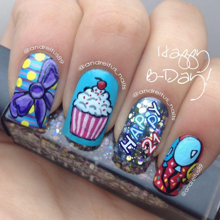 27 best 21st Birthday Nails images on Pinterest   21st birthday ...