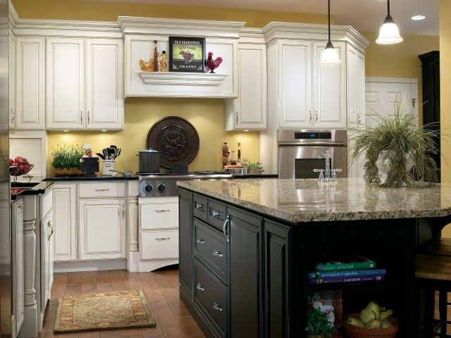 Chantille Espresso & Weathered Jet - love the mix of cabinetry color