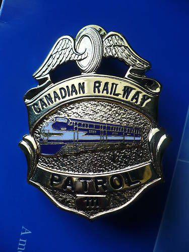 Museu Ferroviário Virtual - Emblema de polícia ferroviária canadense