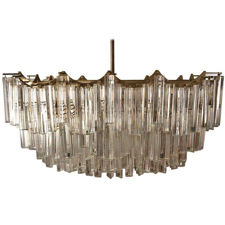 Large venini triedri four tier chandelier