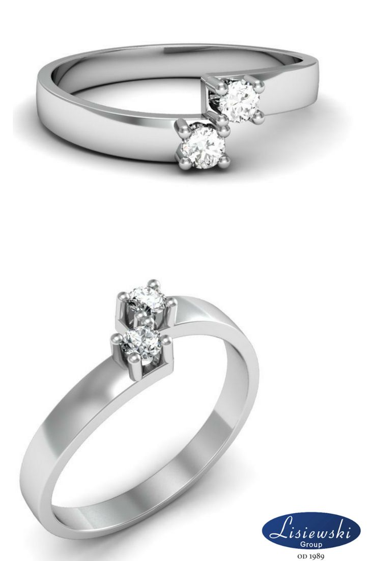 Pierścionek z diamentem z białego złota || White gold engagement ring #ring #diamonds
