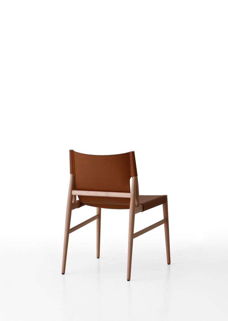 design chair leather solid wood voyage chair by gamfratesi porro