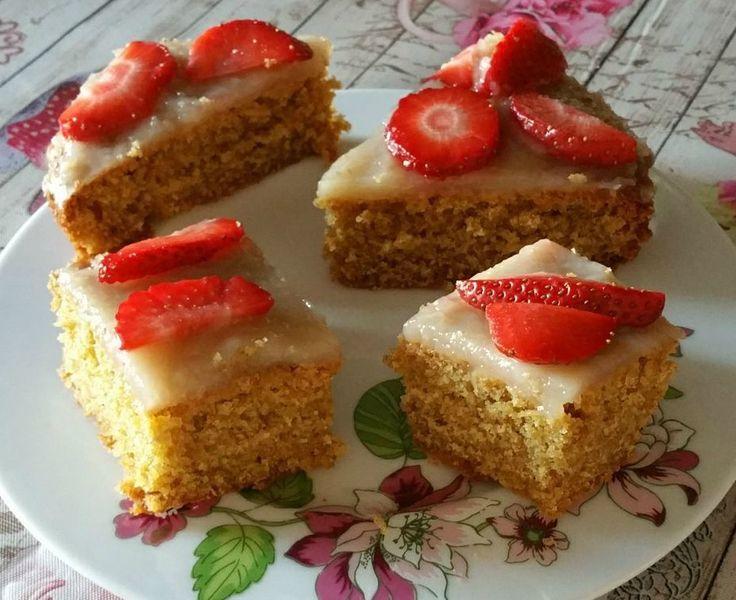 Torta+con+farina+integrale+e+latte+di+cocco
