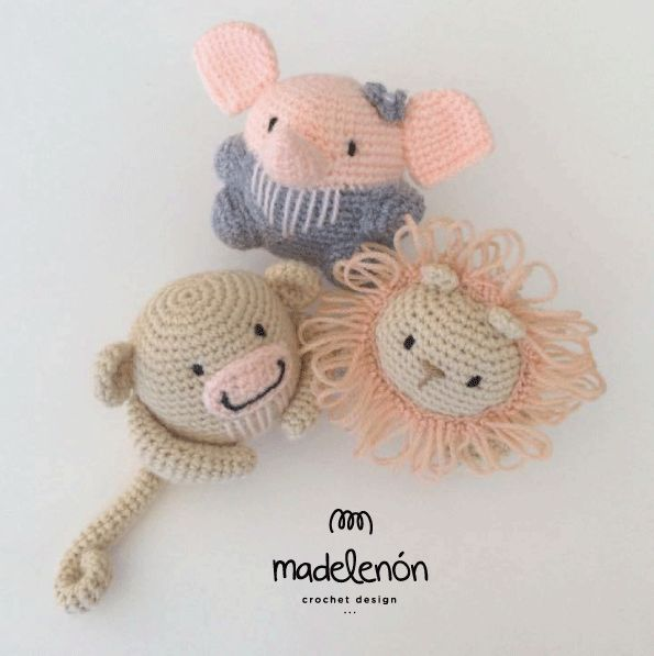 Crochet Patterns For Jungle Animals : 1000+ images about amigurumi safari animals on Pinterest ...