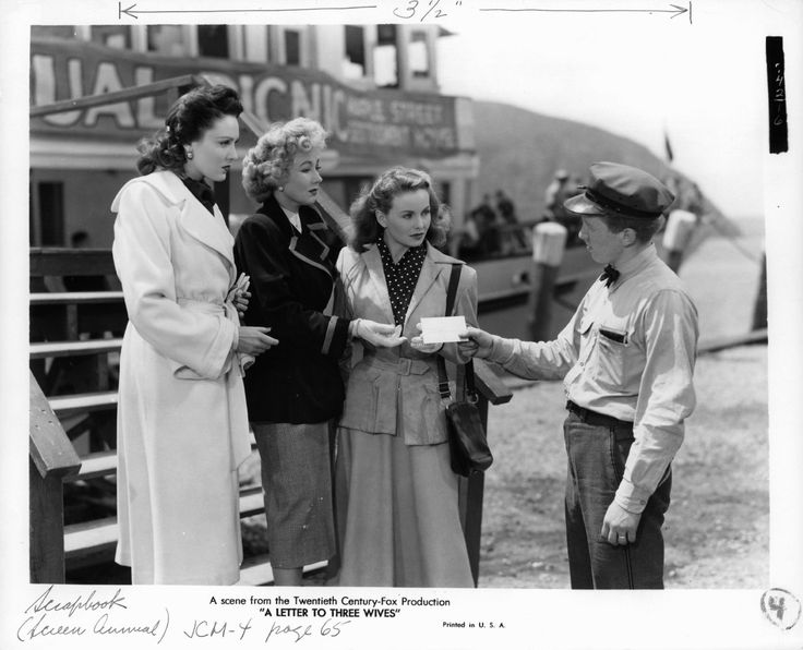 Linda Darnell, Jeanne Crain, Ann Sothern, and John Venn in A Letter to Three Wives (1949)