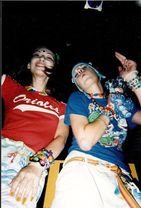 omg yes. this was literally me.  mid-90a east coast rave/club scene Baltimore and Philly and DC. Fever, Fluid, and Buzz.  vintage 90s club kid/raver style photos
