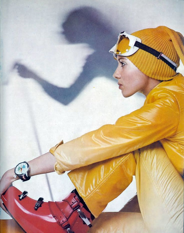 vintage ski fashion - Moyra Swan by Lategan Vogue 1969 UK
