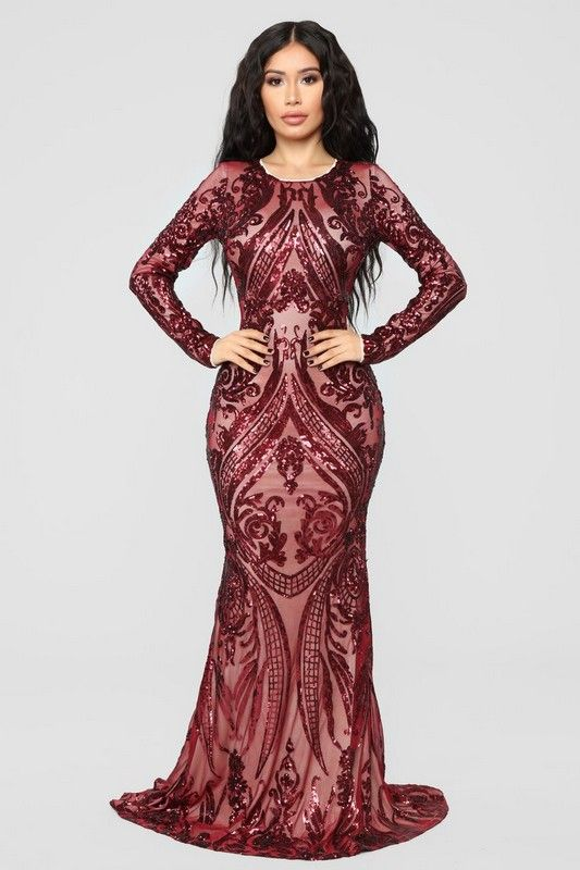 5e00b96142c Unforgettable Romance Sequin Dress - Burgundy  89.99