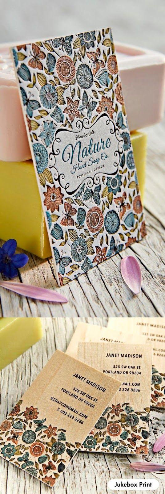Lettering Time: Las mejores tarjetas de visita en letterpress