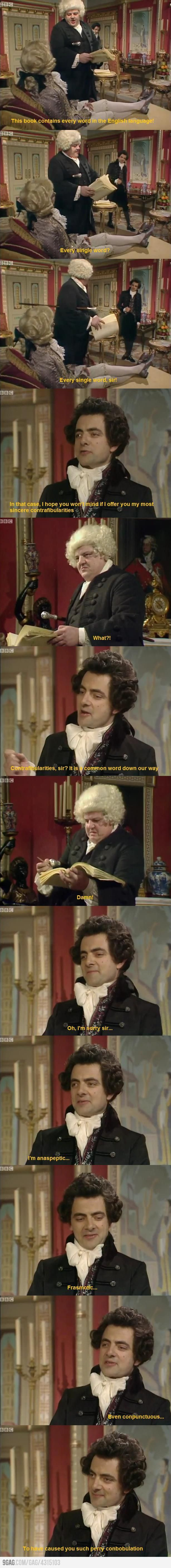 Black Adder trolling Dr. Johnson. One of the funniest scenes in Blackadder. This Blackadder was my favourite