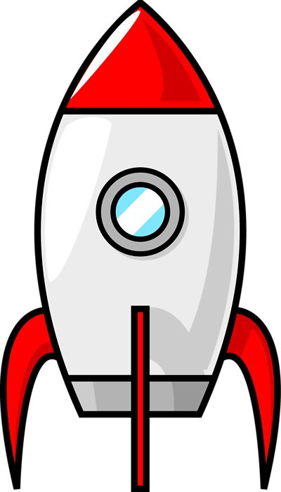 IDEA #3: modern explorer quilt {rocket ship fabric collage - illustration of a red rocket with a transparent background}