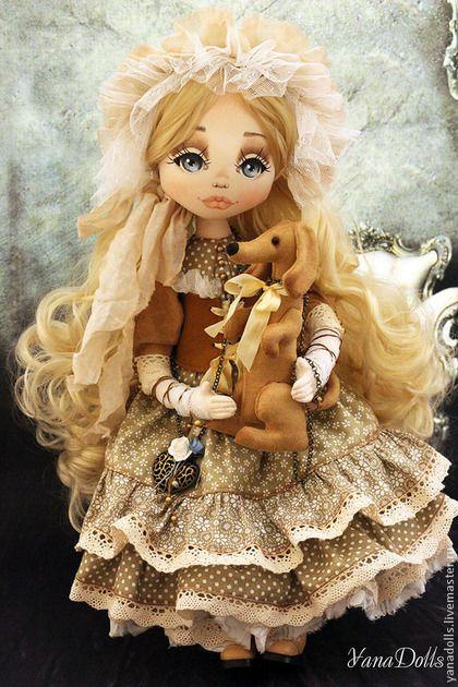 Алена - бежевый,кукла,кукла ручной работы,кукла в подарок,кукла интерьерная