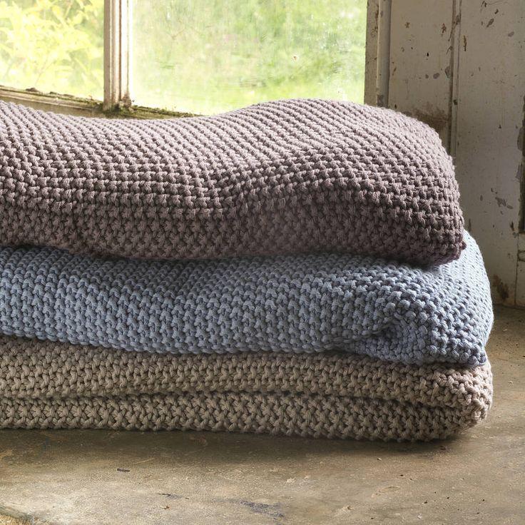 fair trade moss stitch cotton throw by nkuku | notonthehighstreet.com