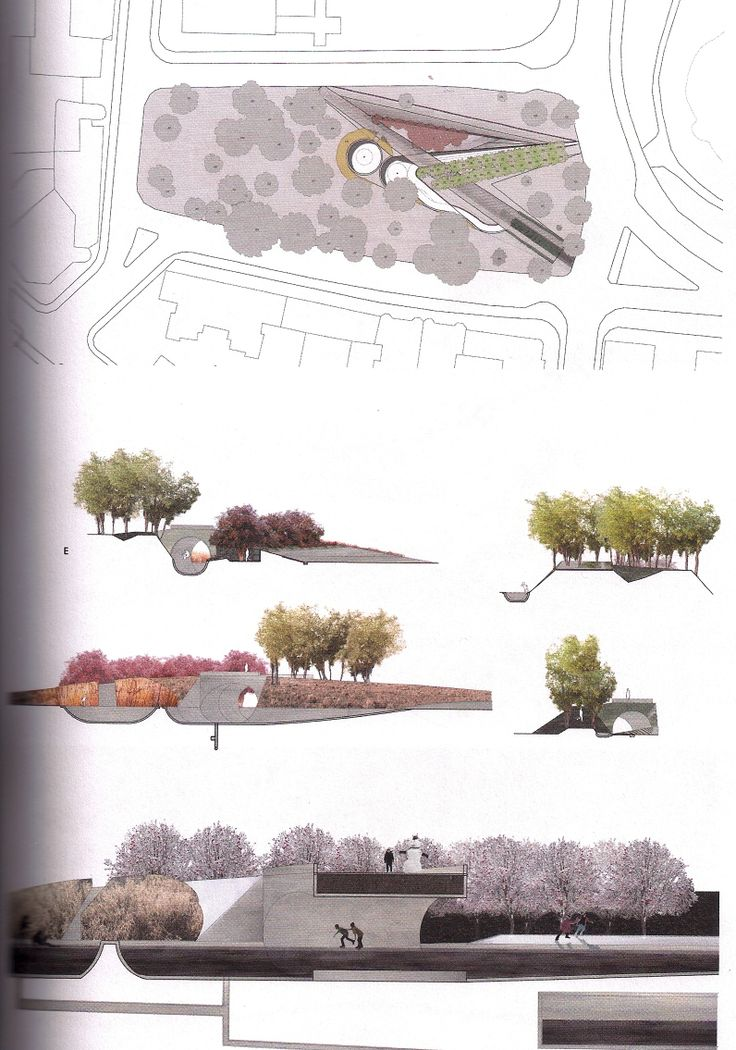 Landscape Architecture Section Drawings 1:200/1:100 - architectural scale