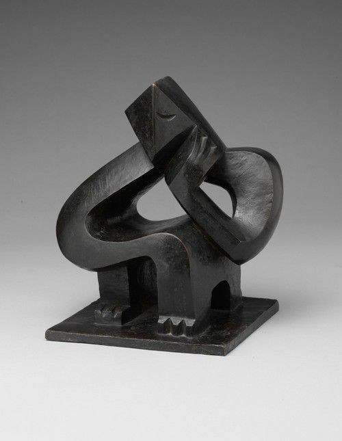 """Seated Man (Meditation)"", 1925   By: JACQUES LIPSCHITZ…."