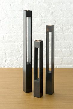 DESU DESIGN Parallel Stem Candle Pedestals - modern - candles and candle holders - Design Public
