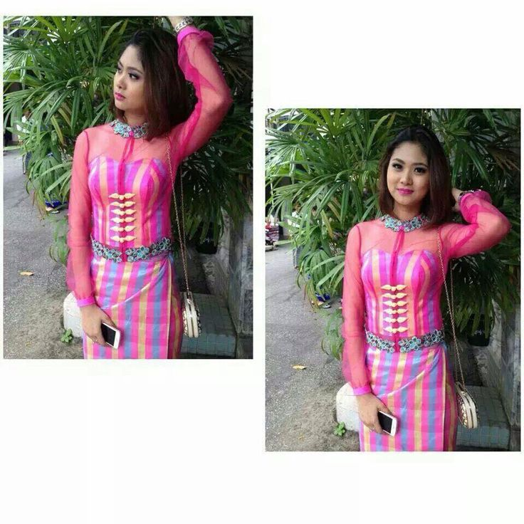 Cute Myanmar girl with Myanmar dress