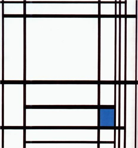 Composition with Blue - Piet Mondrian 1937