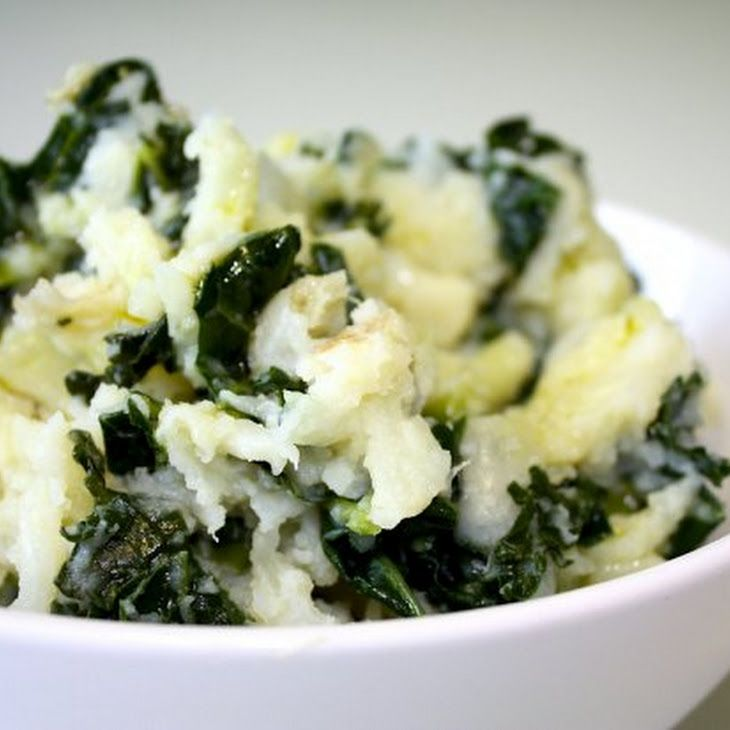 Mashed Potatoes with Goat Cheese & Kale Recipe 4 lbs potatoes (peeled ...