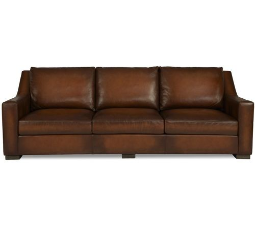 Superior Jake Slope Arm Contemporary Leather Sofa 105 Nice Look
