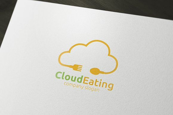 Cloud Eating Logo by rotree_man on @creativemarket