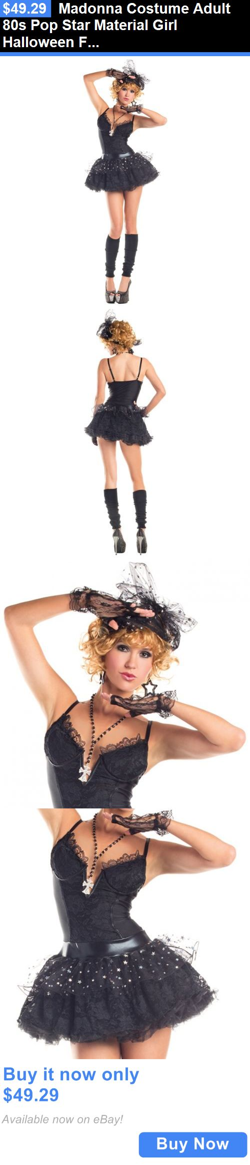 Halloween Costumes Women: Madonna Costume Adult 80S Pop Star Material Girl Halloween Fancy Dress BUY IT NOW ONLY: $49.29