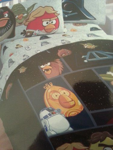 Angry Birds Star Wars Twin Bed Sheet Set (1xflat Sheet, 1x Fitted Sheet, 1 Standard Pillowcase). by Angry Birds. $44.95. Sheets are machine washable. Sheets are ultra soft and Cotton Rich and fit a twin sized bed. Sheets are 60% Cotton and 40% polyester. Get the latest edition of Angry birds bedding. Angry Birds Star Wars. The AB Star Wars edition is a very popular series, and they've now extended into the bedroom. The sheets are cotton rich and ultra soft. Everything is sized fo...