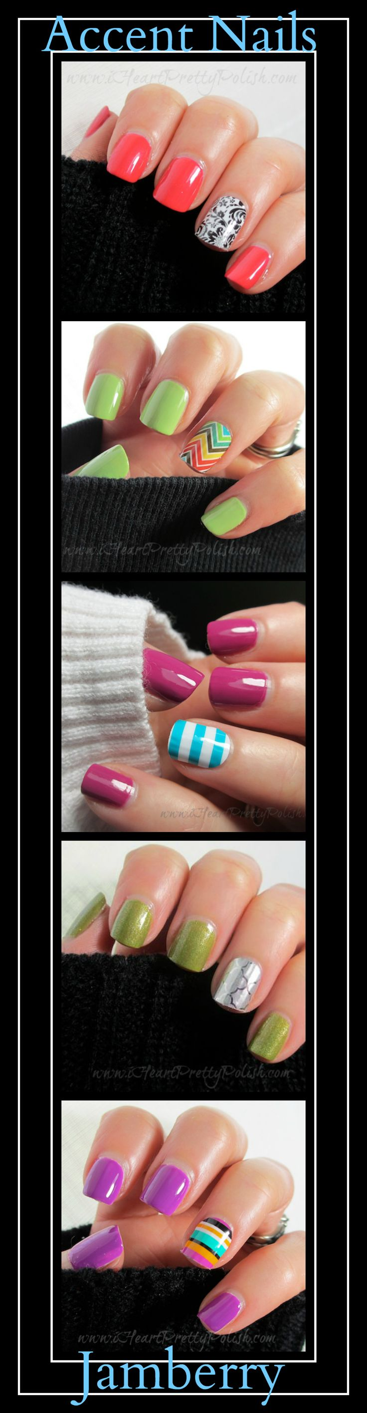 Accent nails. For the girls who can't get bling on their ring finger any other way.