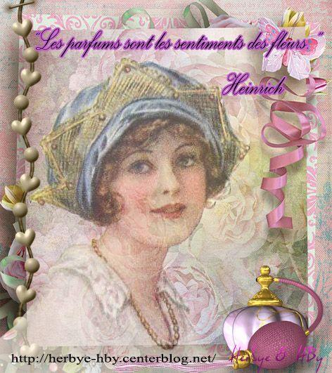 Vintage: Les parfums... Citation-lady...