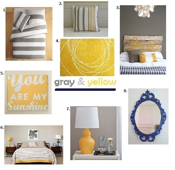 Bed Room Gray And Yellow Bedroom And Home Decor