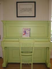 Painted piano matching chair