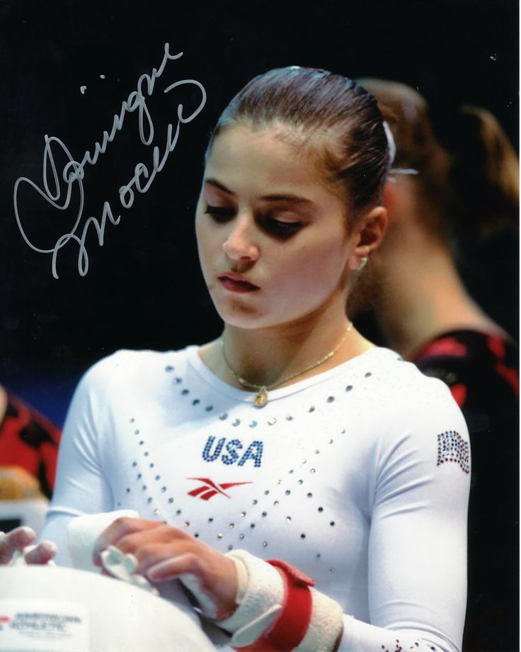 Dominique Moceanu- first gymnast I started following, got me interested in the sport.
