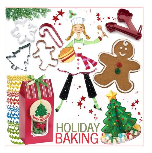 Holiday Baking! by whirlypath on Polyvore featuring interior, interiors, interior design, home, home decor, interior decorating, Williams-Sonoma, Sur La Table and kitchen