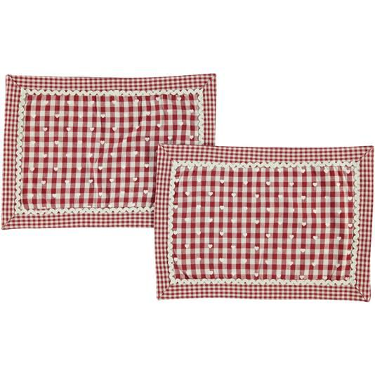 Set 2 tovagliette quadretti e cuori casa - € 9,90   Nico.it - #table #tablecloth #tovaglietta #setamericano #kitchen #cucina #cute #homesweethome #love #christmas #tbt #picoftheday